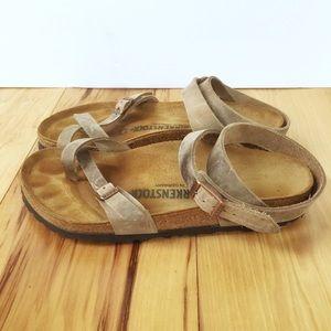 Birkenstock Boho Brown Ankle Tie Strap Sandal 8.5